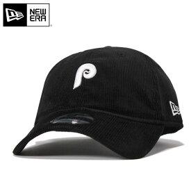 ニューエラ キャップ ストラップバック 9TWENTY クーパーズタウン ミニロゴ コーデュロイ MLB フィラデルフィア フィリーズ ブラック NEW ERA n137tw506