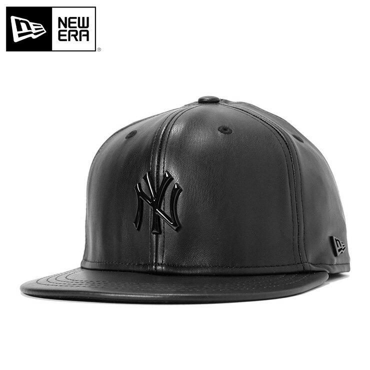 ニューエラ ブラックレーベル キャップ スナップバック 9FIFTY グロッシー メタル MLB ニューヨークヤンキース ブラック NEW ERA BLACK LABEL