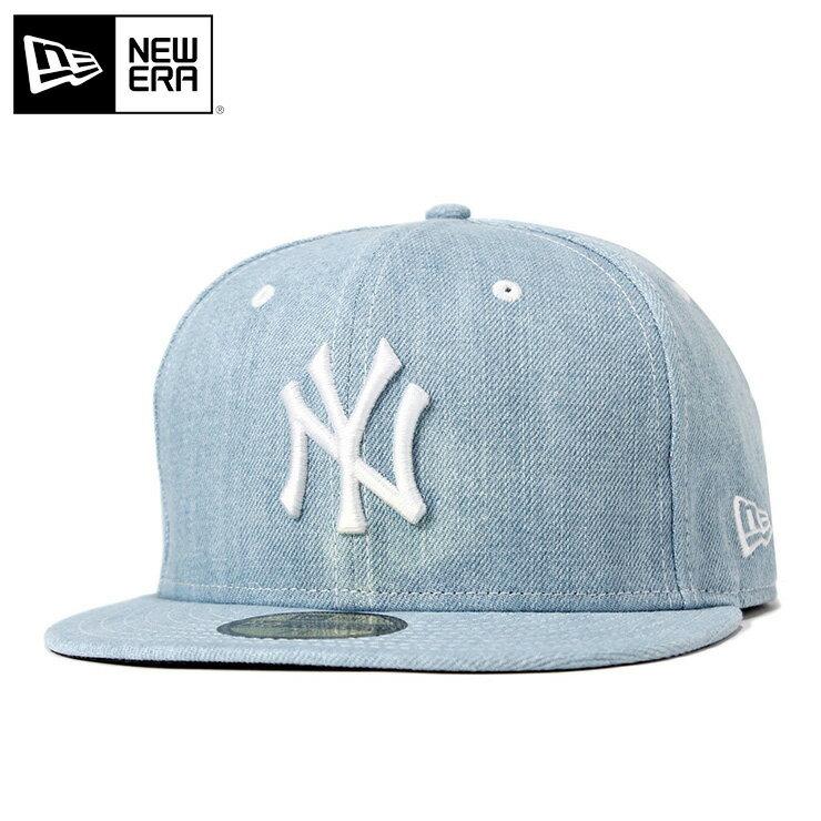 ニューエラ キャップ 59FIFTY デニム MLB ニューヨークヤンキース ブルー NEW ERA