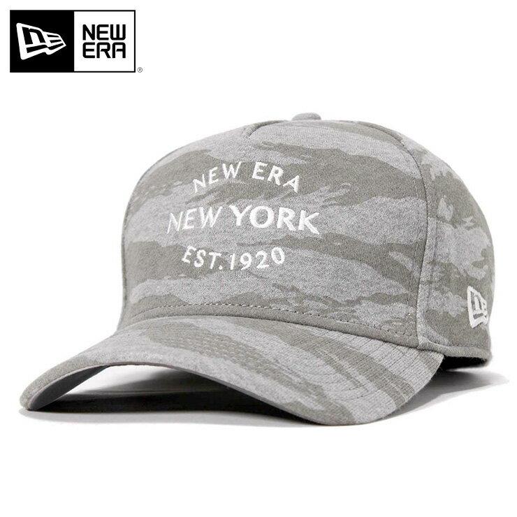 ニューエラ キャップ スナップバック 9FORTY Aフレーム スウェット NEW YORK 1920 グレー カモフラ 迷彩柄 NEW ERA