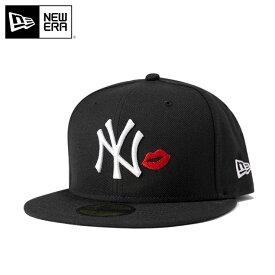 ニューエラ キャップ 59FIFTY MLB ニューヨークヤンキース リップ ブラック NEW ERA 帽子 メンズキャップ レディースキャップ newera 黒 ニューエラキャップ メンズ帽子 レディース帽子 無地 ブランド ストリート ぼうし