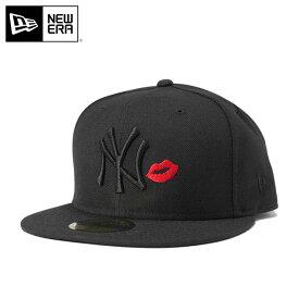 ニューエラ キャップ 59FIFTY MLB ニューヨークヤンキース リップ ブラック/ブラック NEW ERA 帽子 メンズキャップ レディースキャップ newera 黒 ニューエラキャップ メンズ帽子 レディース帽子 無地 ブランド ストリート ぼうし