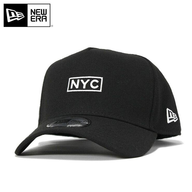 ニューエラ キャップ スナップバック 9FORTY Aフレーム ボックスロゴ NYC ブラック NEW ERA スナップバックキャップ new era メンズキャップ ストリート 黒 コットンキャップ newera ぼうし