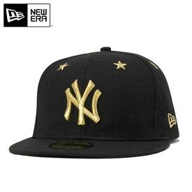 ニューエラ キャップ 59FIFTY スターアイレット MLB ニューヨークヤンキース ブラック ゴールド NEW ERA ヤンキース new era newera 黒 ニューエラキャップ スポーツキャップ ブランド 野球帽子 野球帽 ベースボールキャップ 女性 メンズキャップ帽子 メンズ帽子 ぼうし