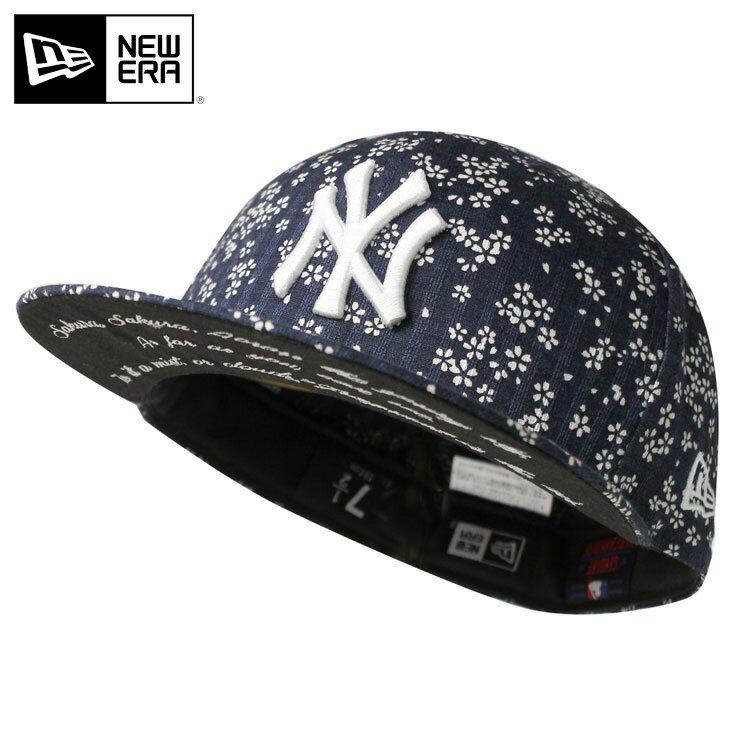 オンスポッツ別注 ニューエラ キャップ 59FIFTY SAKURA 2018 MLB ニューヨークヤンキース ネイビー NEW ERA ||| ベースボールキャップ 帽子 紺 new era 野球帽 メンズキャップ レディースキャップ レディース帽子 newera ぼうし メンズ帽子 春 さくら サクラ 和柄