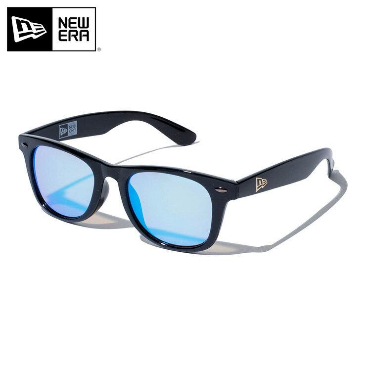 ニューエラ サングラス スクエア シャイニーブラック オーシャンブルー NEW ERA new era ストリート ブランド newera UVカット 紫外線 海 旅行 メンズサングラス カラーサングラス 黒 青 ブルー
