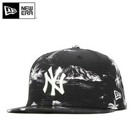 ニューエラ キャップ 59FIFTY アロハ MLB ニューヨークヤンキース ブラック NEW ERA 帽子 黒 new era メンズキャップ ストリート レディース帽子 コットンキャップ newera ぼうし メンズ帽子