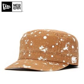 ニューエラ ワークキャップ WM-01 スプラッターペイント ダックキャンバス タン NEW ERA 帽子 new era メンズキャップ ミリタリー ストリート レディース帽子 コットンキャップ newera ぼうし メンズ帽子