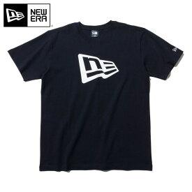 ニューエラ Tシャツ FLAG LOGO BASIC ブラック ホワイト NEW ERA 半袖 半そで ブランド new era ストリート シンプル newera おしゃれ ニューエラTシャツ 黒 メンズTシャツ レディースTシャツ【MB】