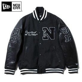ニューエラ スタジアムジャケット N PATCH ブラック NEW ERA 秋冬 おしゃれ ブランド ストリート アウター アパレル 黒 大きいサイズ