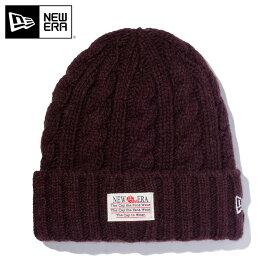 ニューエラ ニット帽 カフ OLD LOGO PATCH LOW GAUGE WOOL BLEND コーヒー NEW ERA ぼうし 秋冬 ブランド おしゃれ ニットキャップ ニューエラキャップ メンズ帽子 レディース帽子