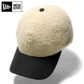 オンスポッツ別注 ニューエラ キャップ サイズ調整 9THIRTY BOA MELTON ベージュ NEW ERA ニューエラキャップ ボア 秋冬 ブランド おしゃれ ローキャップ メンズキャップ レディースキャップ ぼうし メンズ帽子 レディース帽子