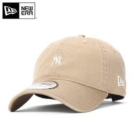 ニューエラ キャップ サイズ調整 9THIRTY MLB ニューヨークヤンキース カーキ NEW ERA ぼうし ニューエラキャップ メンズキャップ レディースキャップ メンズ帽子 レディース帽子 ブランド おしゃれ ストリート 秋冬 ローキャップ 無地