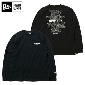 ニューエラ Tシャツ 長袖 WORLDWIDE ブラック NEW ERA ブランド new era おしゃれ ストリート newera ニューエラTシャツ メンズTシャツ レディースTシャツ 長そで シンプル コットン 大きめ 大きいサイズ 黒
