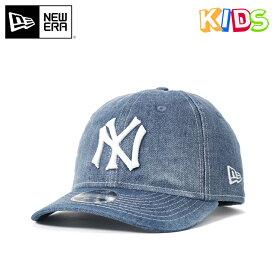 4e6f1ec0e2562 ニューエラ キッズ キャップ スナップバック RETRO CROWN 9FIFTY DENIM DRAFT MLB ニューヨークヤンキース ブルー NEW  ERA