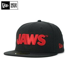ニューエラ ジョーズ コラボ キャップ 59FIFTY LOGO ブラック NEW ERA JAWS ぼうし 野球帽 ベースボールキャップ フラットキャップ new era ストリート neweraニューエラキャップ メンズキャップ レディースキャップ メンズレディース帽子