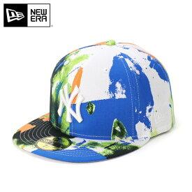 ニューエラ キャップ 59FIFTY BRUSH PAINT MLB ニューヨークヤンキース グリーン NEW ERA ぼうし 野球帽 ベースボールキャップ フラットキャップ ブランド おしゃれ ストリート newera ニューエラキャップ メンズキャップ レディースキャップ メンズ レディース