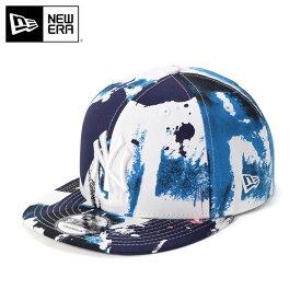 ニューエラ キャップ スナップバック 9FIFTY BRUSH PAINT MLB ニューヨークヤンキース ネイビー NEW ERA ぼうし ブランド おしゃれ ストリート newera ニューエラキャップ メンズキャップ レディースキャップ メンズ レディース メンズレディース帽子