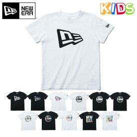 ニューエラ キッズ Tシャツ BASIC NEW ERA KIDS ブラック ホワイト new era ブランド おしゃれ ストリート newera ニューエラTシャツ メンズTシャツ レディースTシャツ シンプル 半袖 半そで コットン 黒 白 【MB】