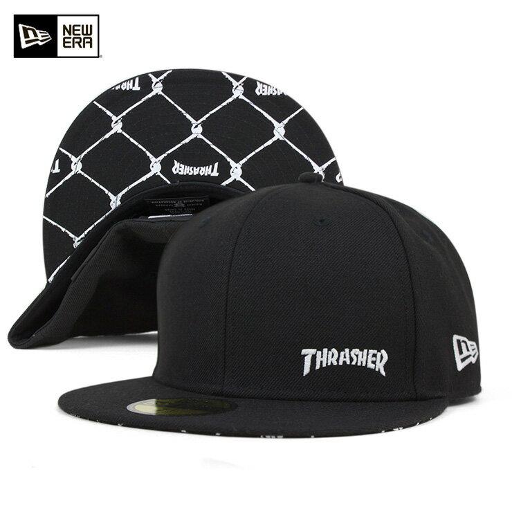スラッシャー ニューエラ キャップ 59FIFTY フローレス ブラック THRASHER || フラットキャップ new era 黒 きゃっぷ メンズ ダンス帽子 ストリートキャップ メンズ帽子 メンズキャップ帽子 かっこいい ストリート newera ニューエラキャップ ブランド ぼうし 帽子