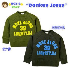 【男児ベビー】【トレーナー】Donkey Jossy/ドンキージョシー ワッペン装飾付き 裏毛ラグラントレーナー【90cm】【95cm】