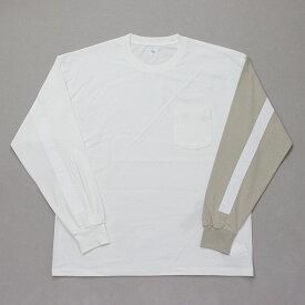キャプテンサンシャイン KAPTAIN SUNSHINE コットン ループウィール ジャージー U.S Cotton Loopwheel Jersey ホワイト/ベージュ KS20FCS13