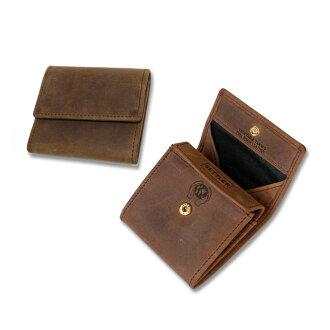 定居者 (定居者) 男士皮革钱包 OW 890 硬币钱包棕色钱包男士