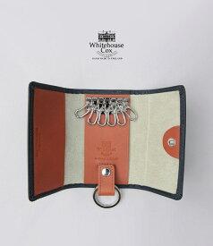 【ポイント11倍】ホワイトハウスコックス キーケース ネイビー/タン ダービーコレクション キーケースウィズリング WhitehouseCox S9692 KEYCASE WITH RING DERBY