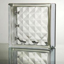 ガラスブロック 高品質 95mm厚 クリア色ジュエル