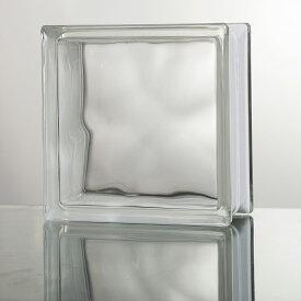 ガラスブロック 高品質 80mm厚 クリア色クラウディ