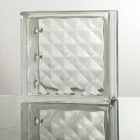 ガラスブロック 高品質 80mm厚 クリア色ジュエル