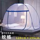 蚊帳テント 120×195 簡単設置 蚊 害虫 ホコリ ムカデ カメムシ 予防 虫よけ 虫除け 底ネット 底付き シングル サイズ…