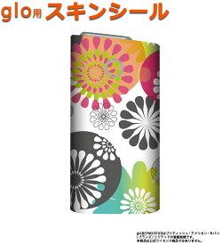 glo グロー スキンシール 全面 シール glo適合品 ステッカー フルセット 電子タバコ mitas mset-glos [花 花柄 花がら フラワー]