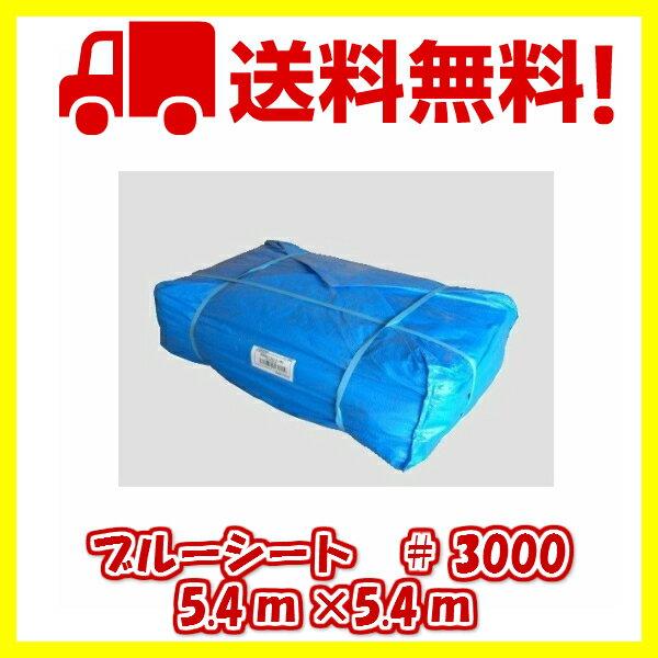 ブルーシート #3000タイプ 5.4×5.4m 6枚入 厚手シート 送料無料 レジャーシート