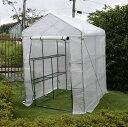 園芸用菜園ハウス 中 長さ143×幅143×高さ195cm 菜園ビニールハウス 温室ビニールハウス
