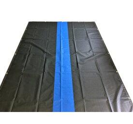 トラックシート 2.3m×3.5m ブラック&ブルー センターライン2tトラック 厚手 荷台カバー エステル帆布