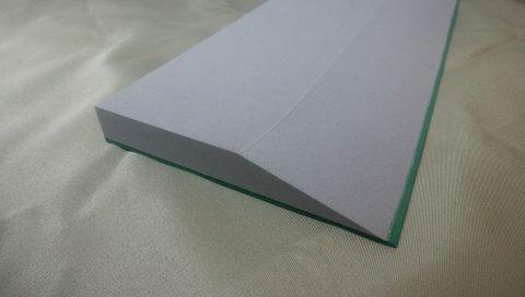 ウレタン仕上げベラ グレー+グリーンゴム 15mm+2mm×120mm×1,000mm