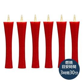 和ろうそく(わろうそく) 20号・イカリ型(朱)6本入「和ローソク・朱ローソク・朱ろうそく・赤ローソク・赤ろうそく・蝋燭・法要・葬儀」