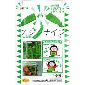 トキタ 種苗 エンドウ 種子 「スジナイン」 小袋(20ml)規格 野菜種 サヤエンドウ 赤花 スジナシ 種 早生種 キヌサヤエンドウ 絹莢エンドウ すじなし