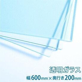 ガラス棚板用 透明ガラス W600×H200×T5mm 規格サイズ 硝子 カット シェルフ DIY用品 国内加工 建材 \丁寧梱包 運送保証 お客様が割っても保証/ オーダーガラス板.COM