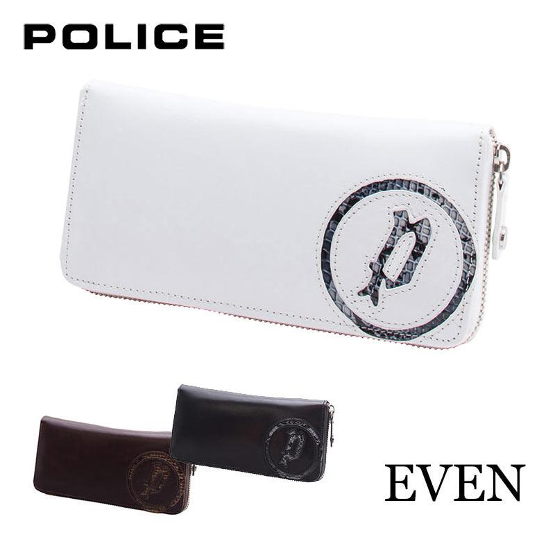 ポリス POLICE EVEN イーブン ラウンドファスナー長財布 イタリアンレザー 0514