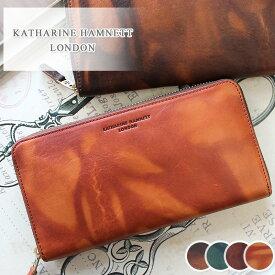 キャサリンハムネット KATHARINE HAMNETT LONDON ラウンドファスナー長財布 財布 FLUID フルード 490-59205