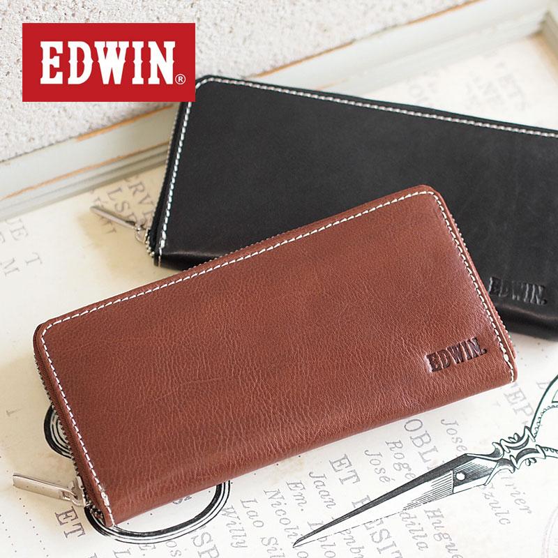 エドウィン EDWIN ラウンドファスナー長財布 財布 0510428