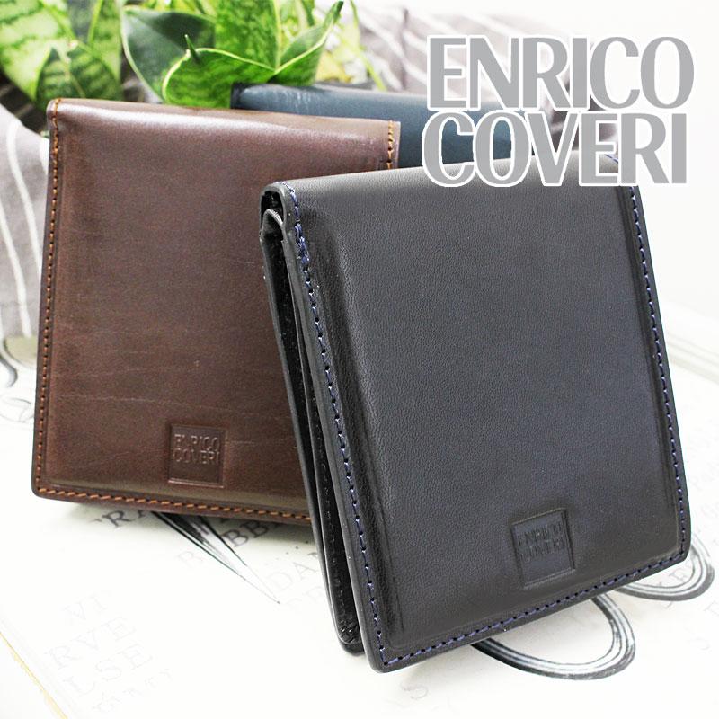 エンリココベリ ENRICO COVERI ブック型 二つ折り財布 財布 オブリガード ECM044