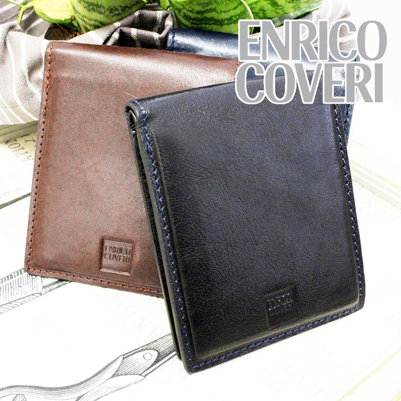 エンリココベリ ENRICO COVERI 二つ折り財布 財布 小銭入れなし オブリガード ECM045
