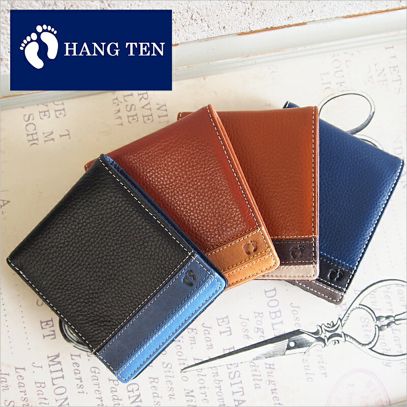 ハンテン HANG TEN 二つ折り財布 61HT05【メール便対応商品】