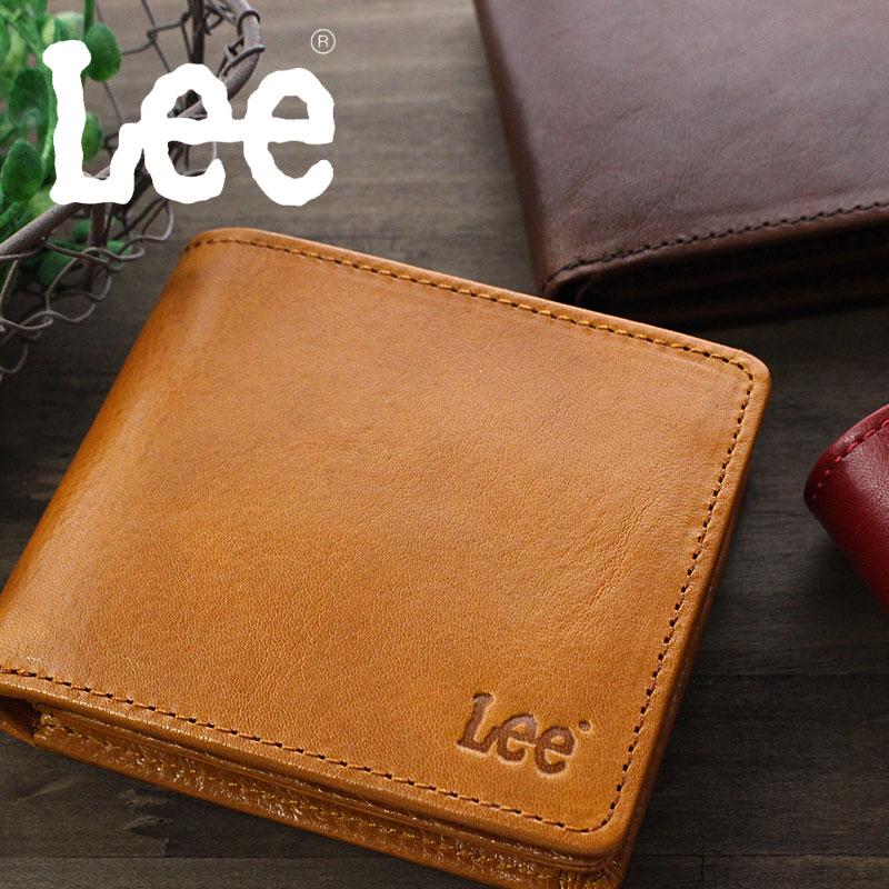 Lee リー BOOK型二つ折り財布 砂村オリジナル イタリアンレザー 0520234【メール便対応商品】
