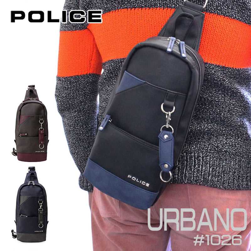 ポリス POLICE ボディバッグ URBANO アルバーノ 1026