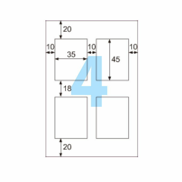 ヒサゴ CJ2878S ラベルシール 光沢紙 はがき/4面 5冊セット(25シート入)