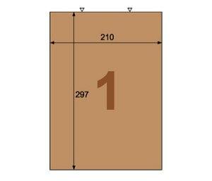 ヒサゴ OPD862 クラフト紙ラベル ダークブラウン ダンボール用 A4/ノーカット(20シート入)